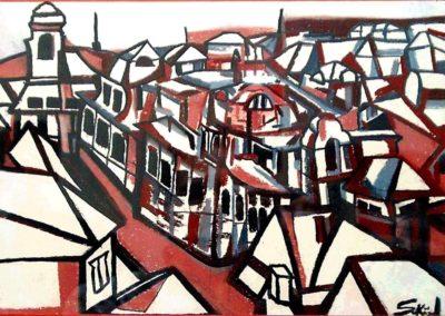 Grove of Petrin in Prague - Pecs, November 2000, Pastel, Paper 25x35 cm