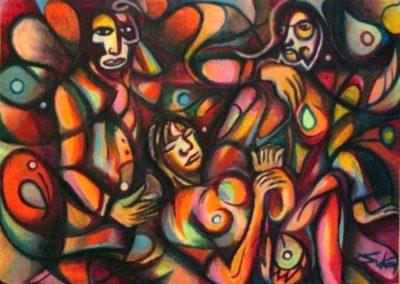 Languor - Pecs, March 2005, Oil Pastel, Paper 50x70 cm