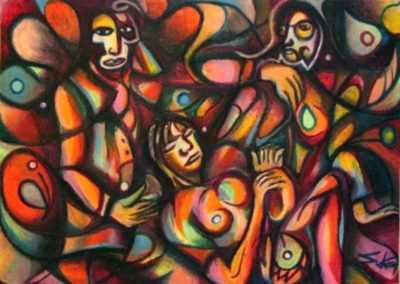 Languor - Pecs, March 2005, Oil Pastel, Paper 50x70 cm