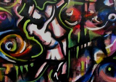 Moody Mambo - Budapest, July 2005, Acrylic Paint, Paper 50x48 cm